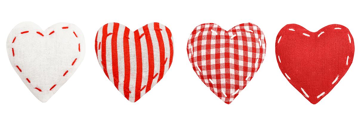 Polštářky ve tvaru srdce