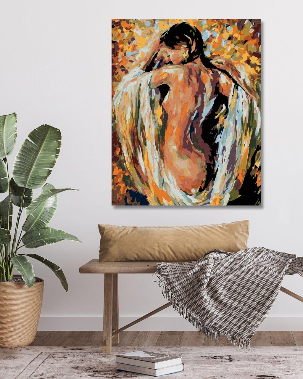 Malování podle čísel - POLONAHÁ ŽENA V BARVÁCH