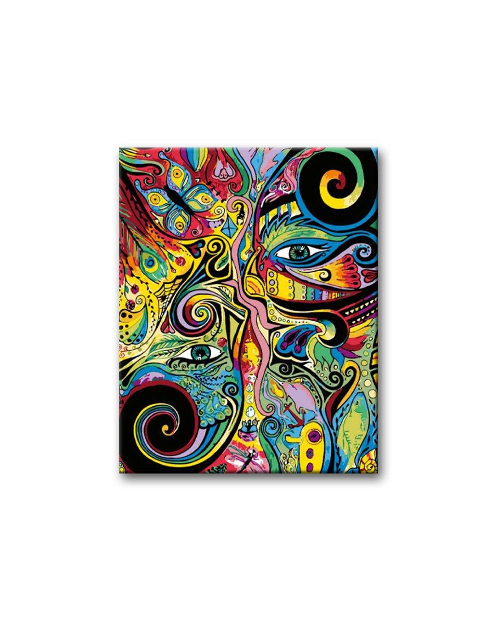 Malování podle čísel - ABSTRAKCE HLAVY