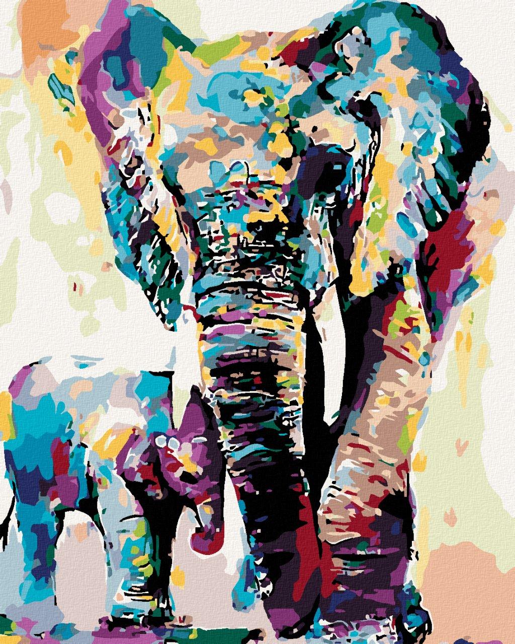 Malování podle čísel - MALOVANÍ SLONI