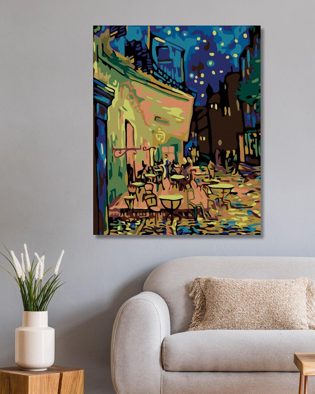 Malování podle čísel - NOČNÍ KAVÁRNA (VAN GOGH)
