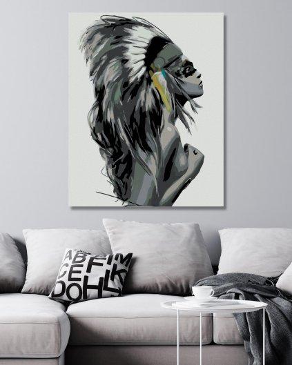 Malování podle čísel - ŽENA NÁČELNICE