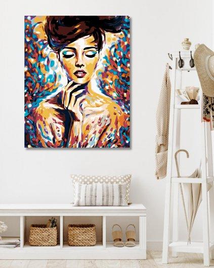 Malování podle čísel - ŽENA V BARVÁCH