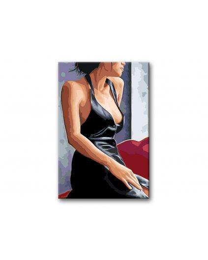 Malování podle čísel - ŽENA V ČERNÝCH ŠATECH