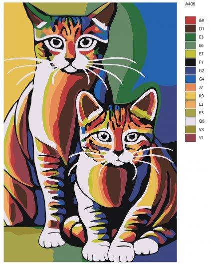 Malování podle čísel - MALOVANÁ KOŤATA