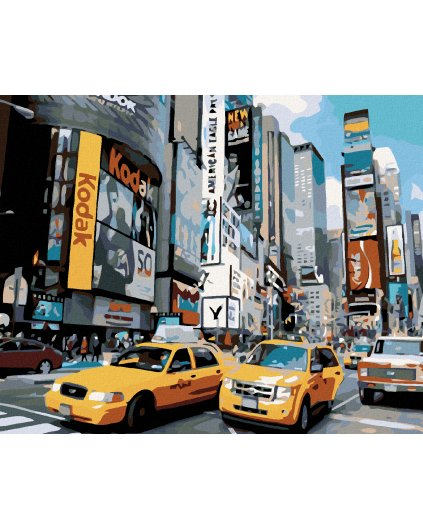 Malování podle čísel - ULICE V NEW YORKU