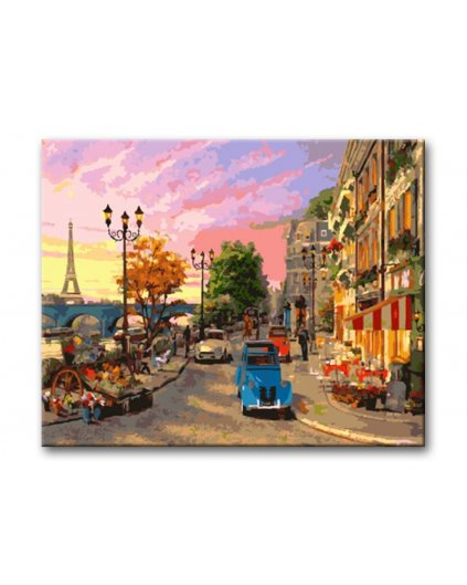 Malování podle čísel - ULICE V PAŘÍŽI