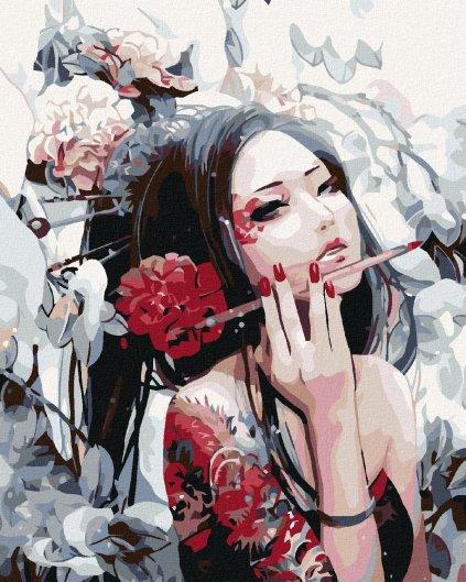 Malování podle čísel - MALÍŘKA Z JAPONSKA