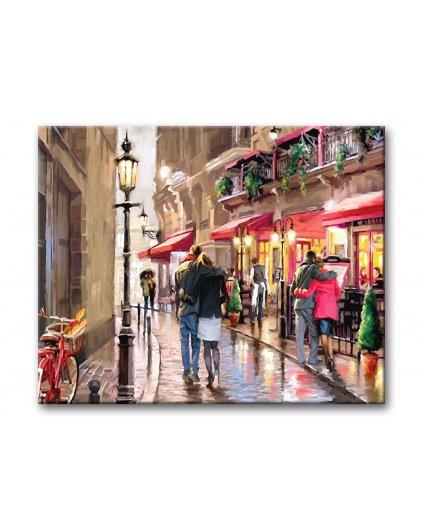 Malování podle čísel - PROCHÁZKA PAŘÍŽÍ