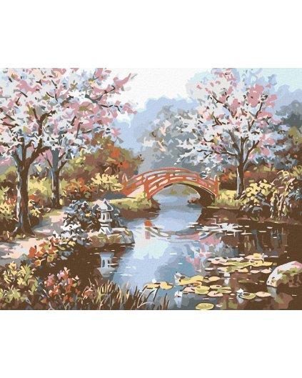 Malování podle čísel - JAPONSKÁ ZAHRADA