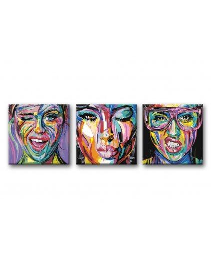 Malování podle čísel - SET POMALOVANÁ DÍVČÍ TVÁŘ