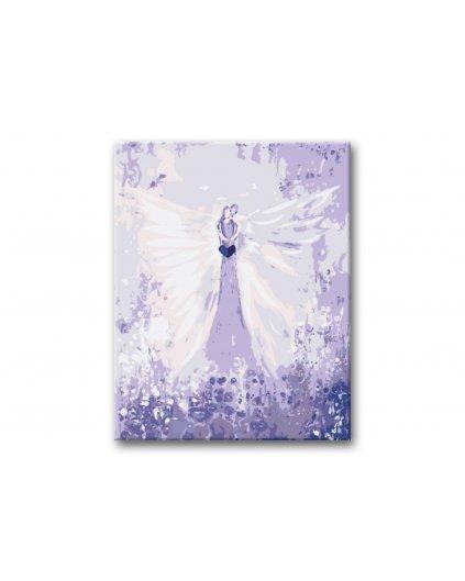 Malování podle čísel - ANDĚLÉ OD LENKY -  EMBRACE ANGEL