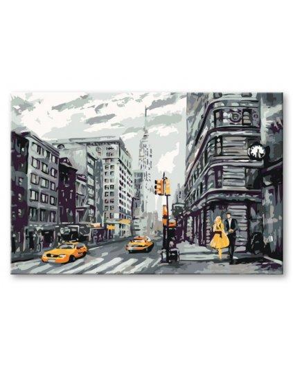 Malování podle čísel - ČERNO ŽLUTÝ NEW YORK