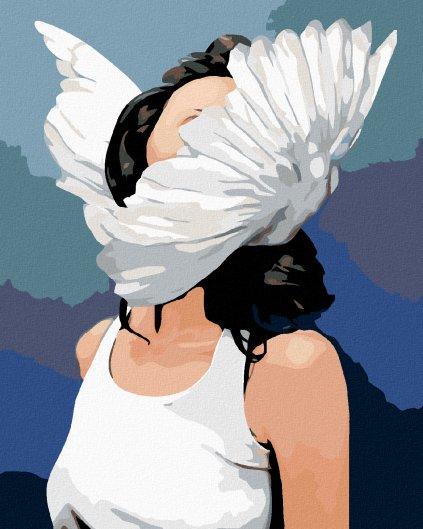 Malování podle čísel - ŽENA S KŘÍDLY