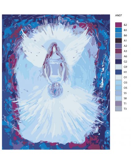 Malování podle čísel - ANDĚLÉ OD LENKY - UNIVERSE ANGEL