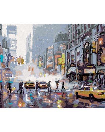 Malování podle čísel - RUŠNÁ ULICE V NEW YORKU (RICHARD MACNEIL)
