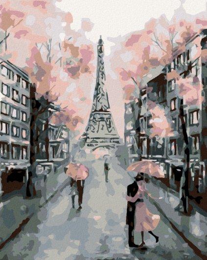 Malování podle čísel - KVETOUCÍ PAŘÍŽ