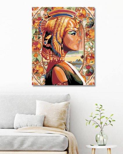 Malování podle čísel - KRÁLOVNA EGYPTA