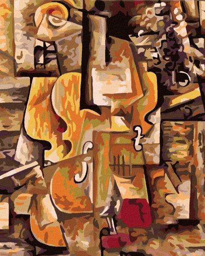 Malování podle čísel - HOUSLE A HROZNY (PICASSO)