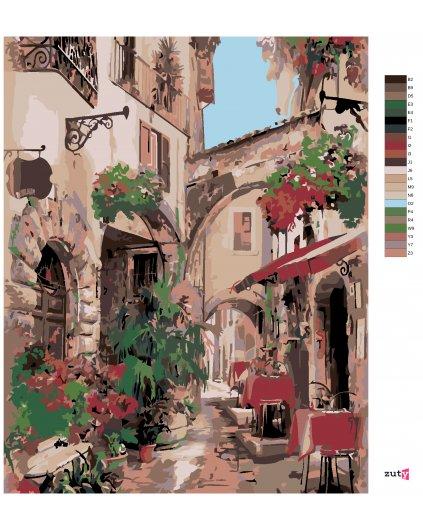 Malování podle čísel - ITALSKÁ ULIČKA