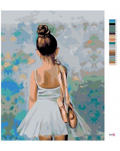 Malování podle čísel - MALÁ BALETKA