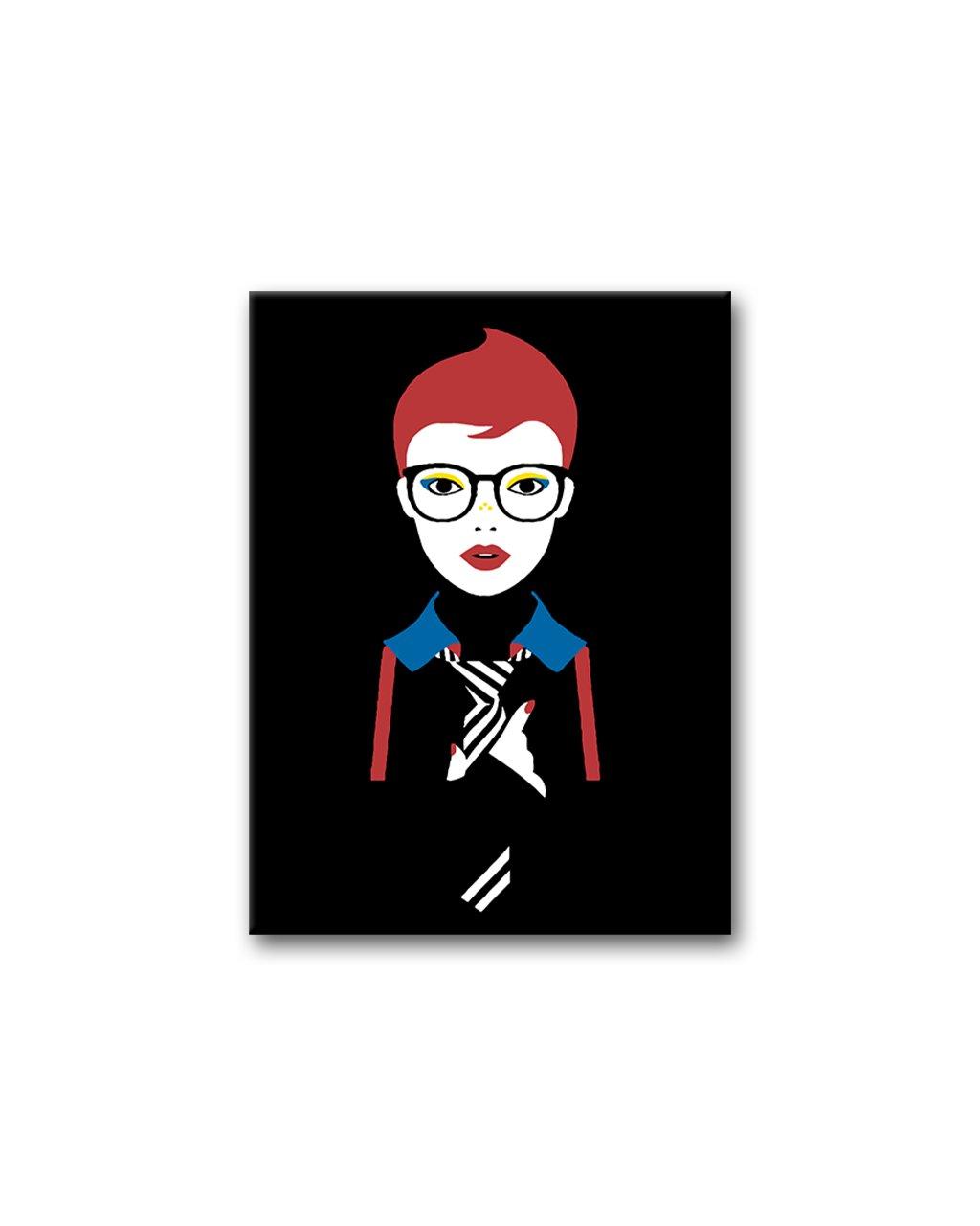 Malowanie po numerach - Kobieta w czarnych okularach