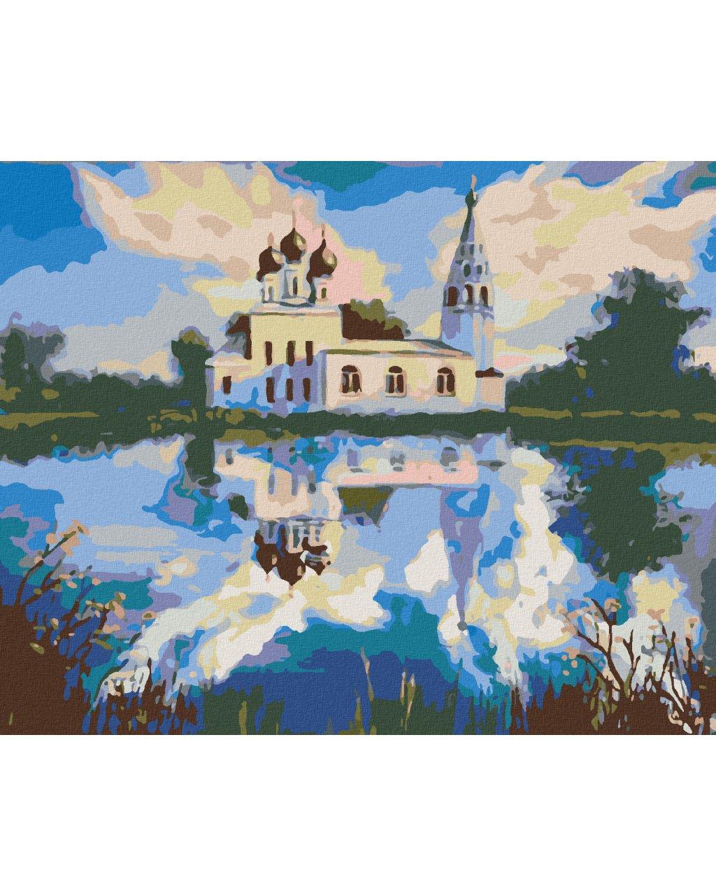 Malowanie po numerach – Kościół nad jeziorem
