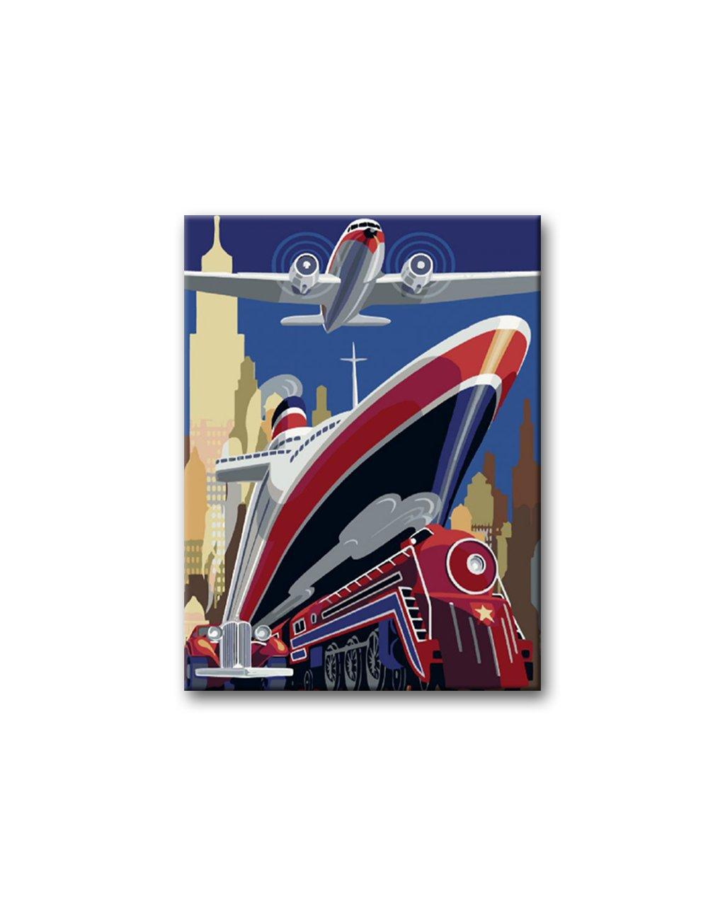 Malowanie po numerach – Pociąg, parowiec i samolot