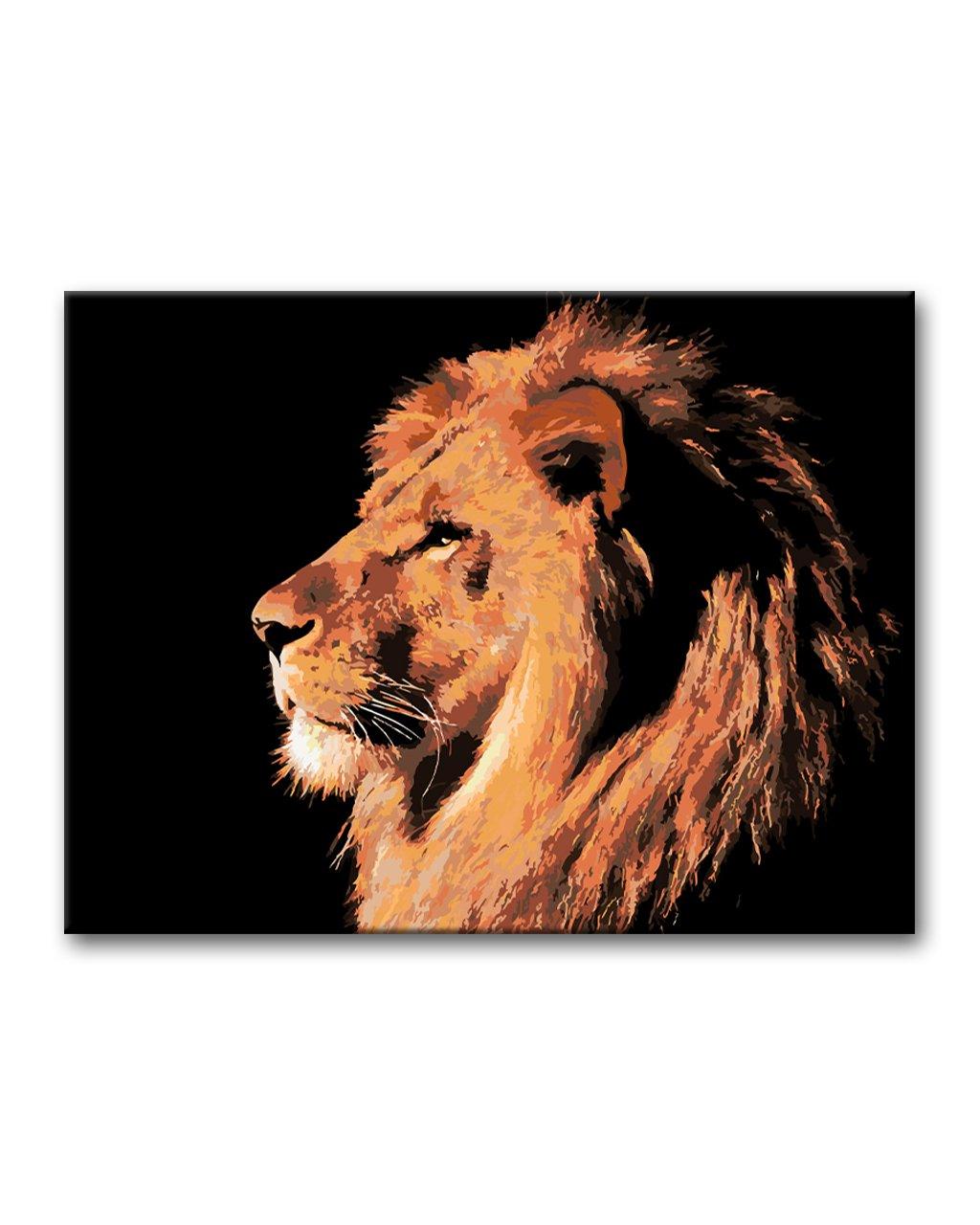 Malowanie po numerach – Majestatyczny lew