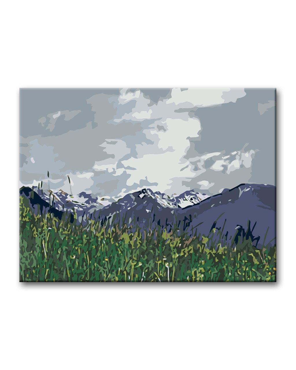 Malowanie po numerach – Łąka w górach