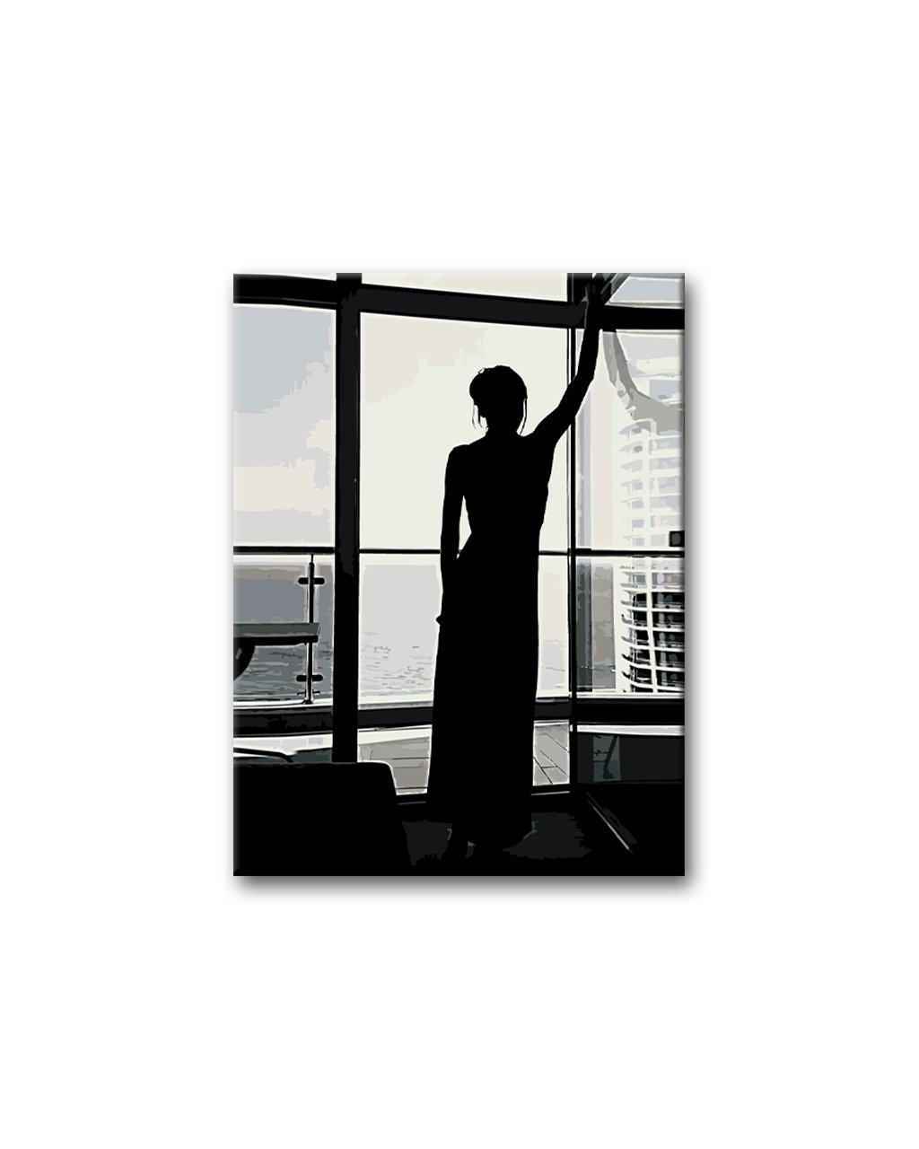 Malowanie po numerach – Kobieta i widok na morze