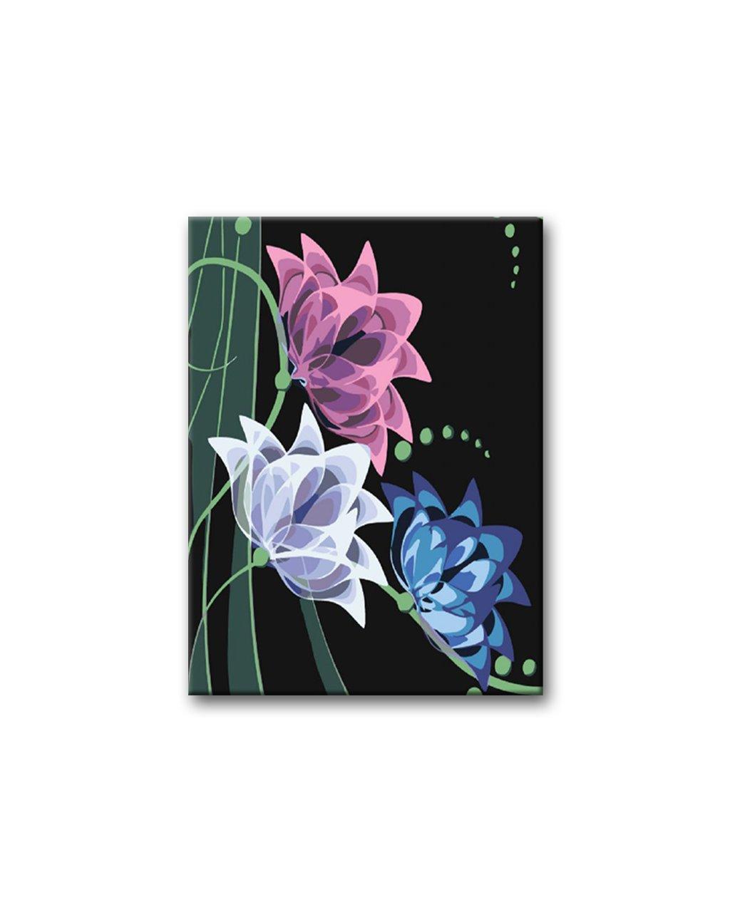 Malowanie po numerach – Kolorowe neonowe kwiaty