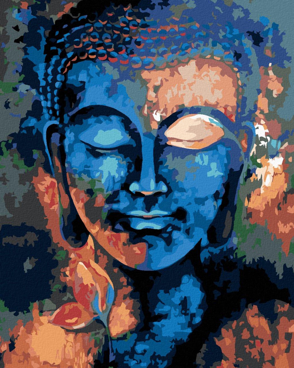 Malowanie po numerach – Kolorowy Buddha