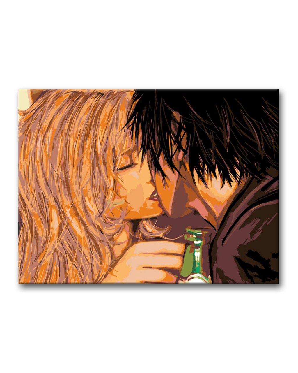 Malowanie po numerach – Namiętny pocałunek