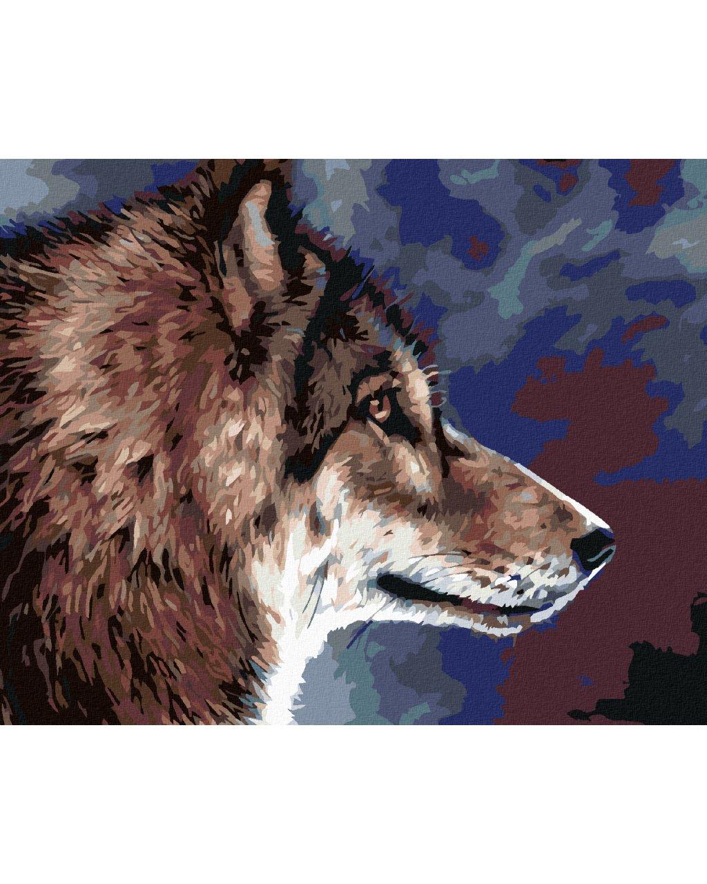 Malowanie po numerach – Głowa wilka