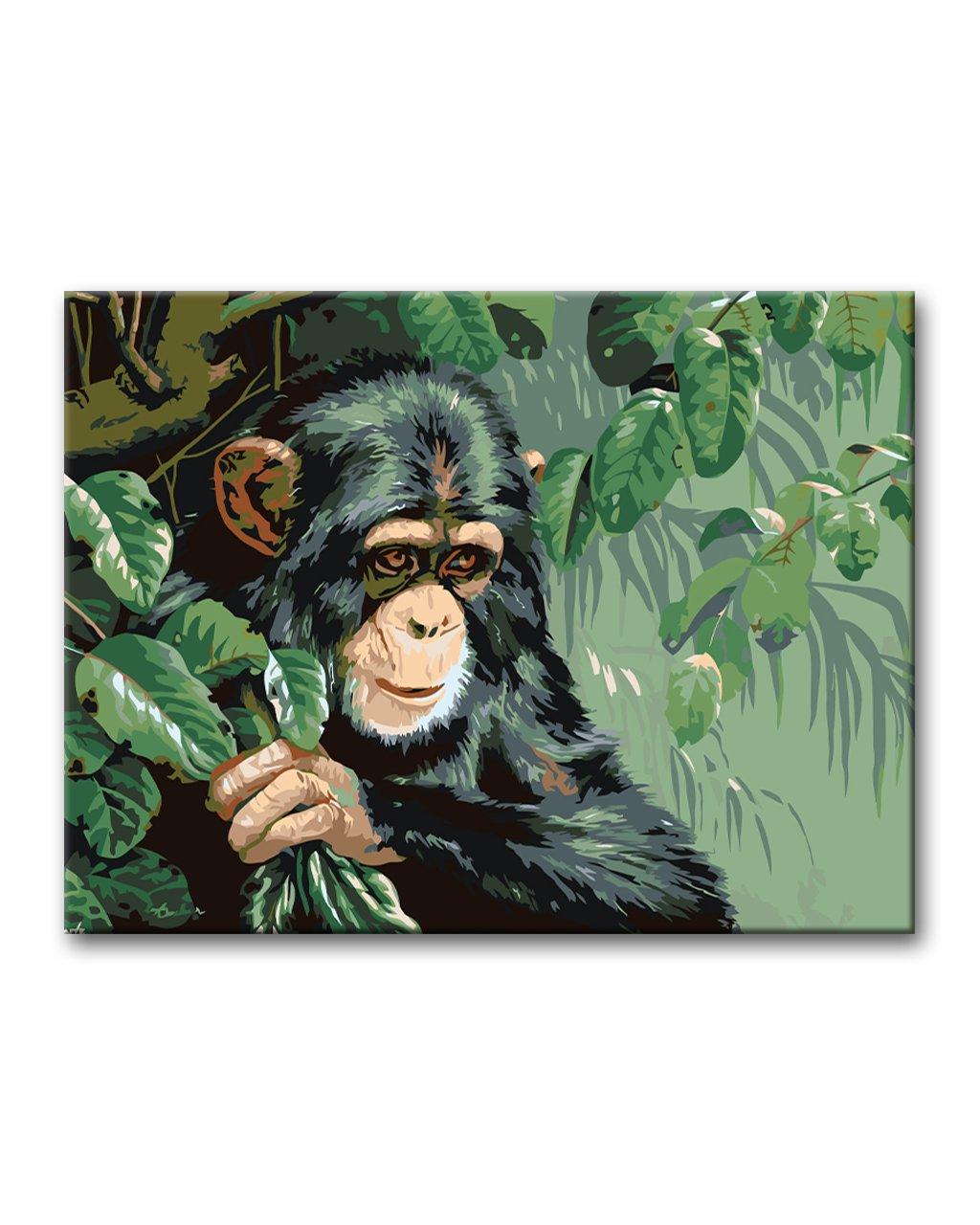 Malowanie po numerach – Szympans na drzewie