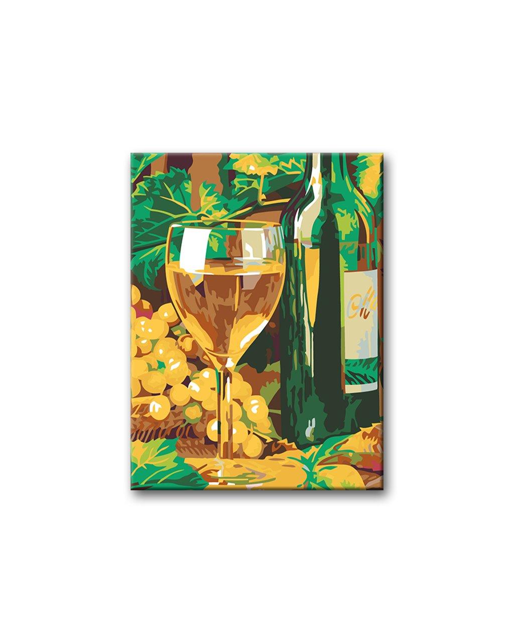Malowanie po numerach – Lampka białego wina