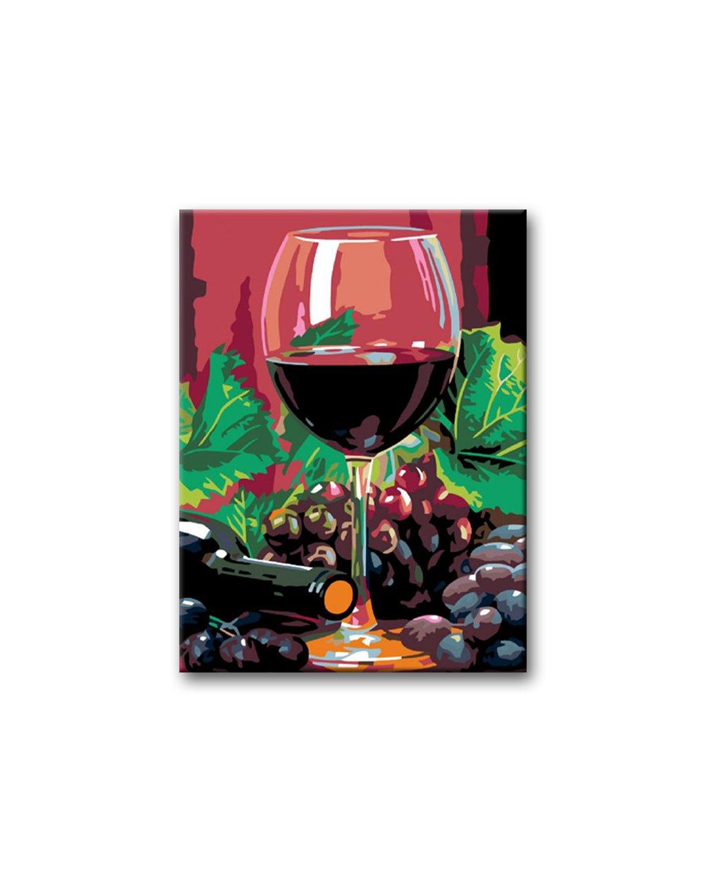 Malowanie po numerach - Lampka czerwonego wina