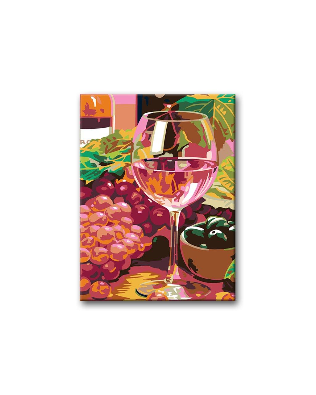 Malowanie po numerach - Lampka różowego wina