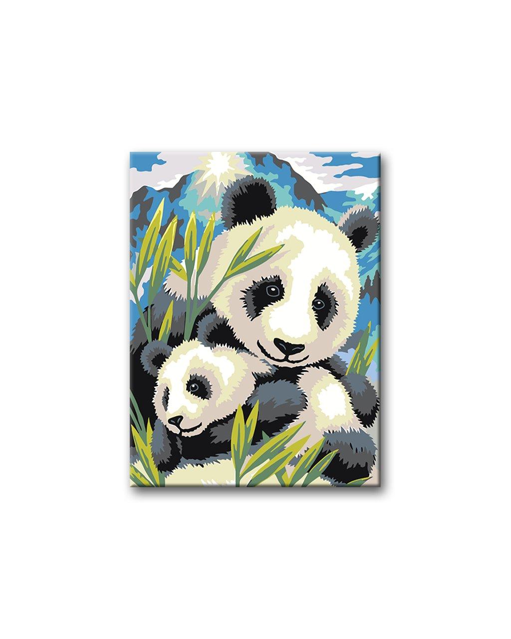 Malowanie po numerach - Pandy