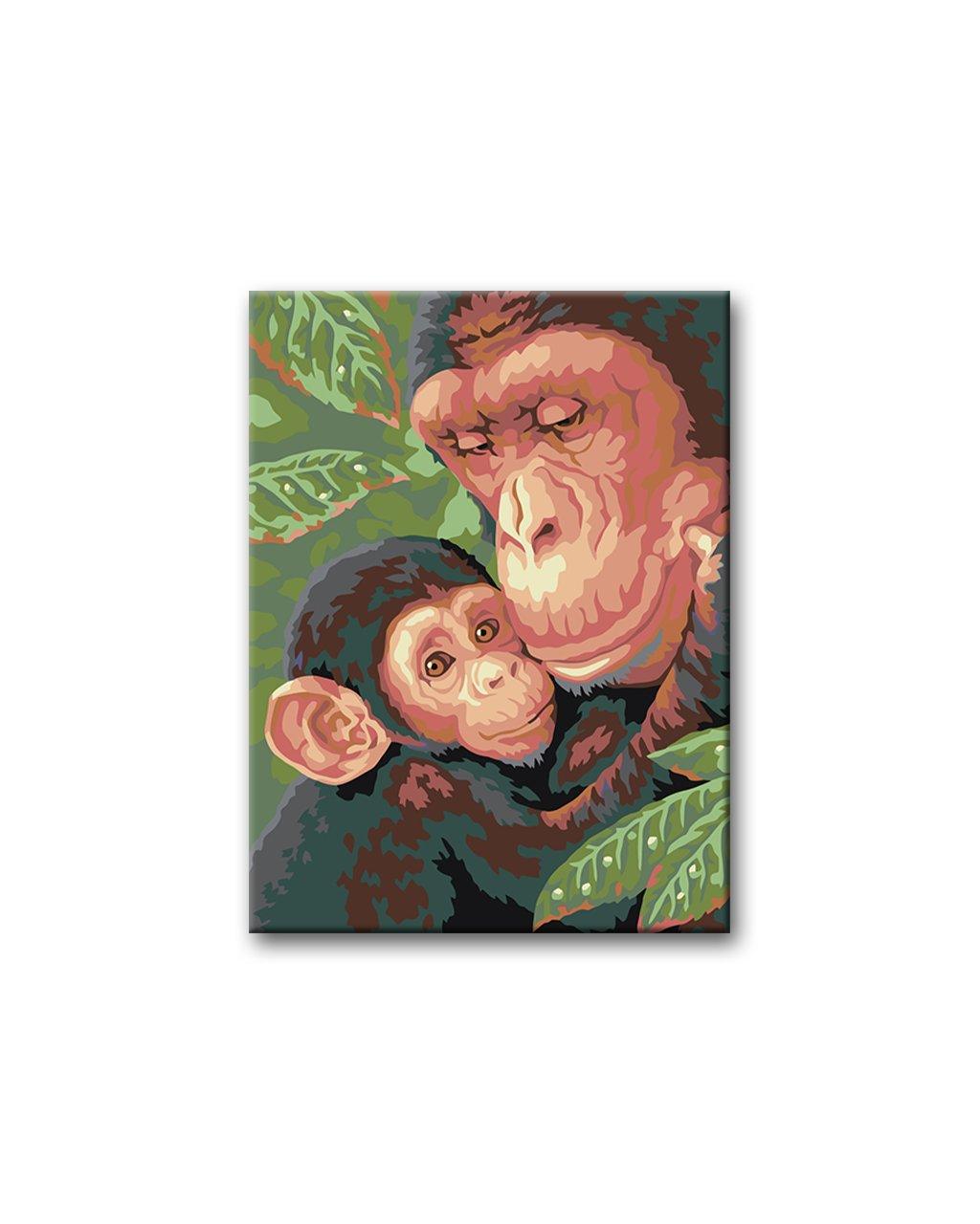 Malowanie po numerach – Małpia rodzinka