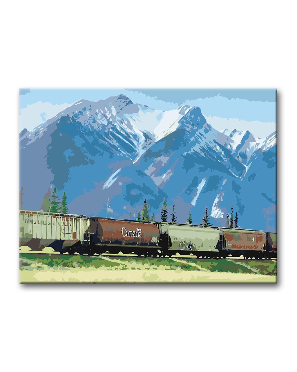 Malowanie po numerach – Kanadyjski górski krajobraz