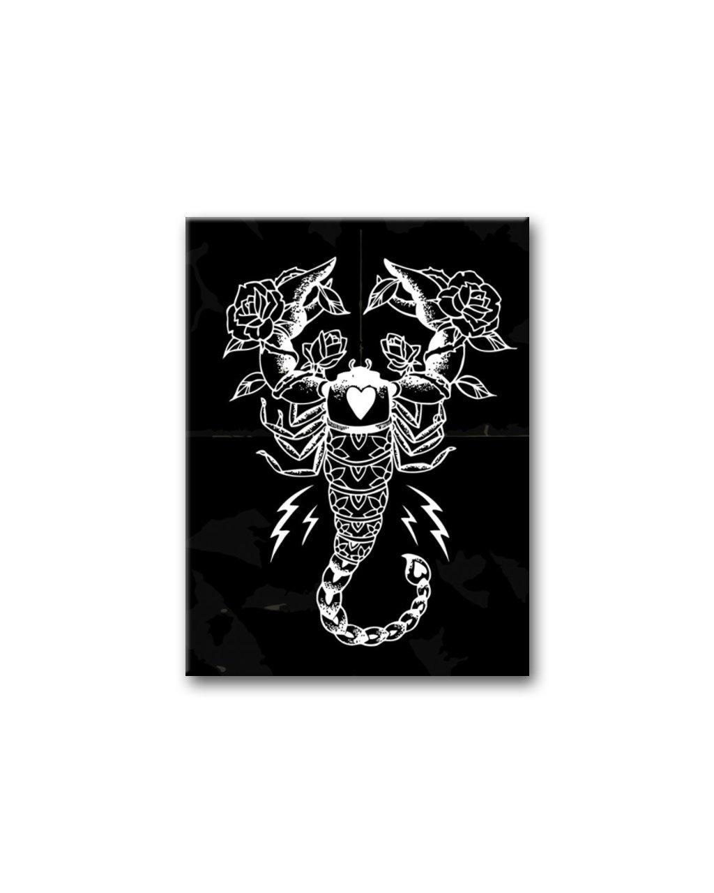 Malowanie po numerach – Skorpion na czarnym tle