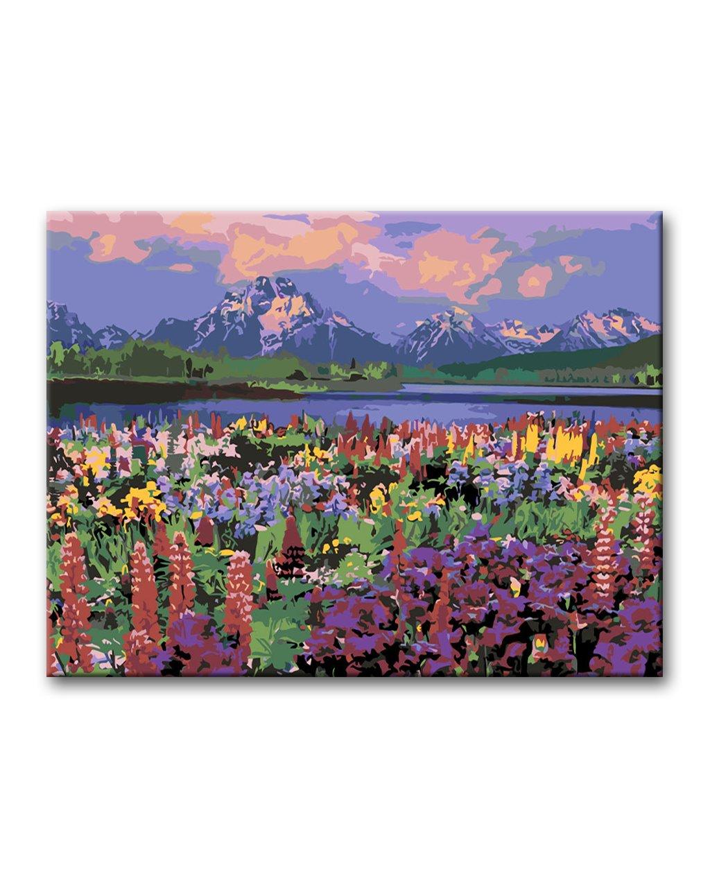 Malowanie po numerach – Górska kwiecista łąka