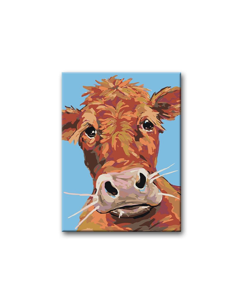 Malowanie po numerach - Brązowa krowa