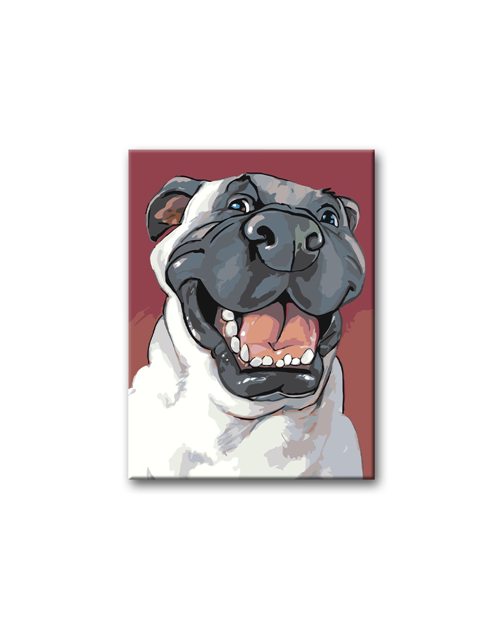 Malowanie po numerach – Wesoła psia morda