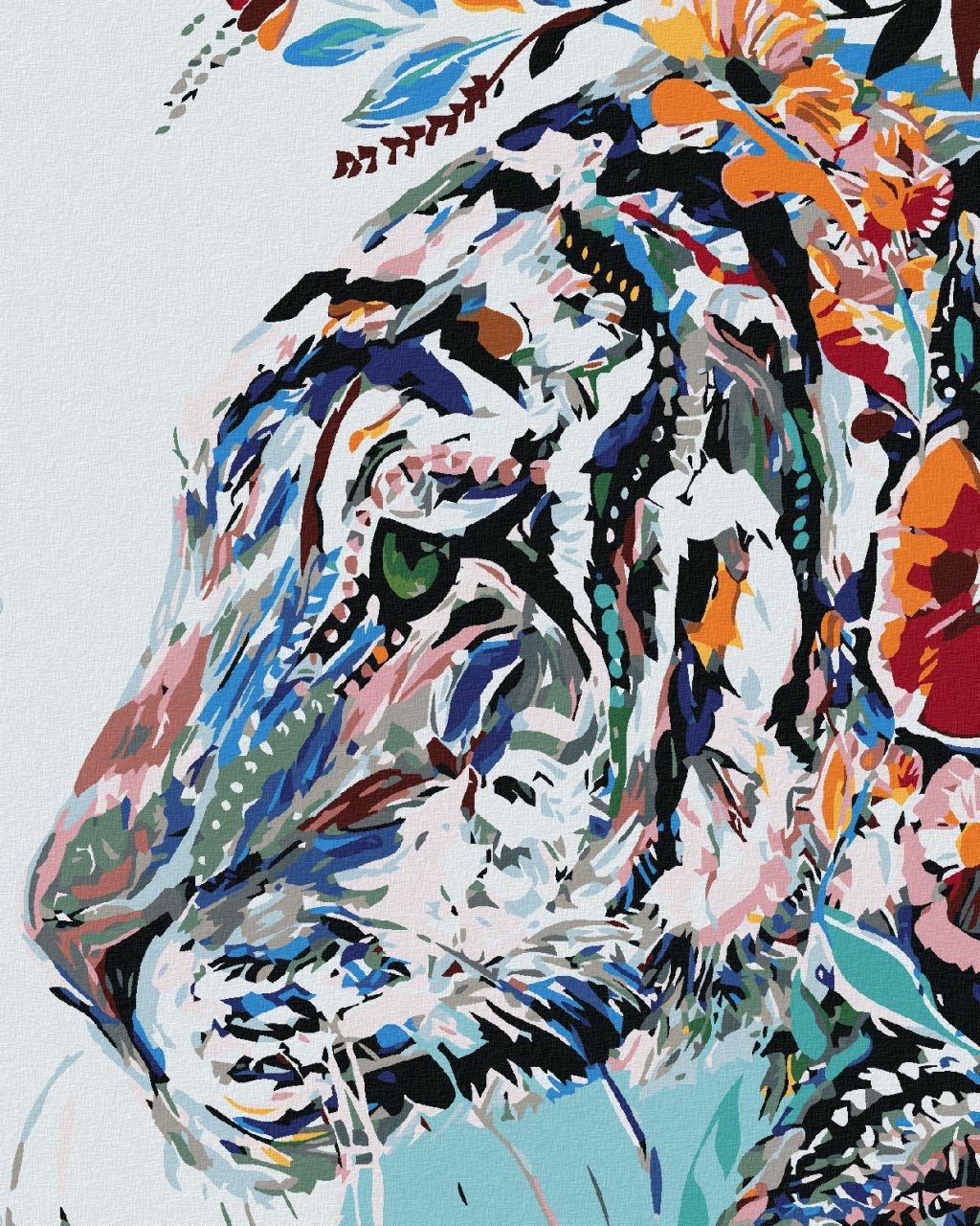 Malowanie po numerach – Malowany tygrys