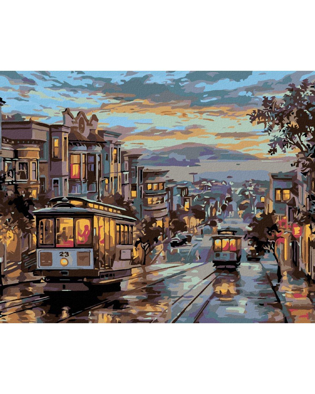 Malowanie po numerach – Nocny tramwaj