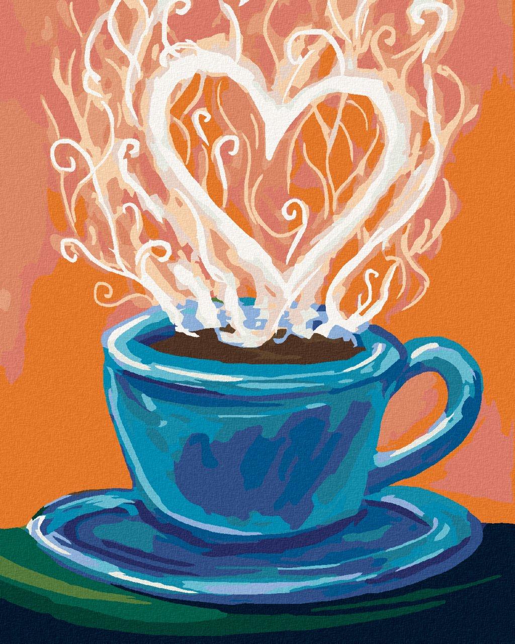 Malowanie po numerach – Kawa ze serca