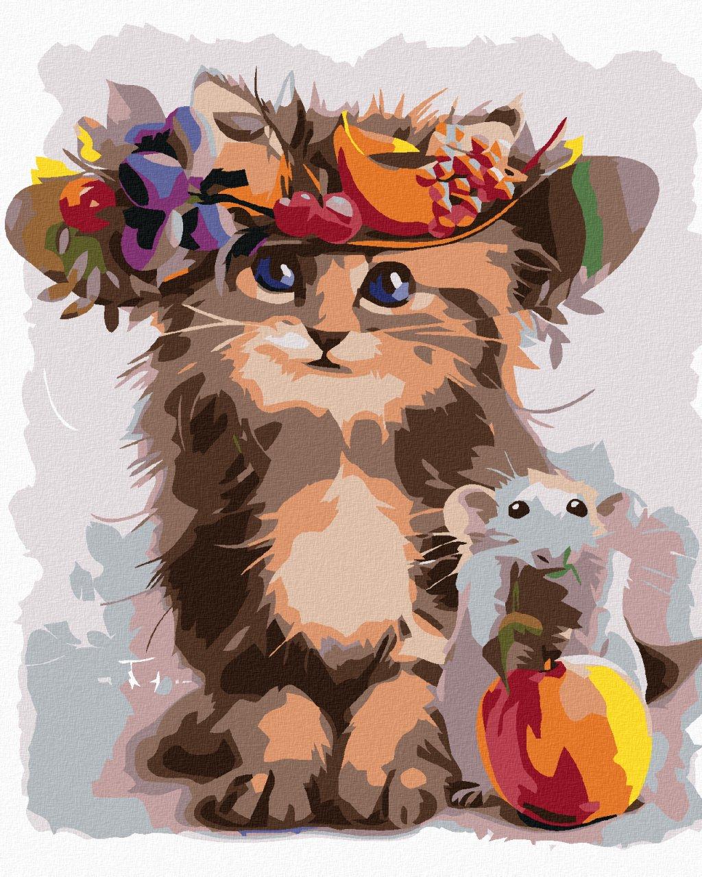 Malowanie po numerach – Jak kot i mysz
